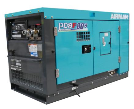 AIRMAN 80CFM 150PSI BOX-TYPE PORTABLE DIESEL COMPRESSOR PDSF80S-5C5