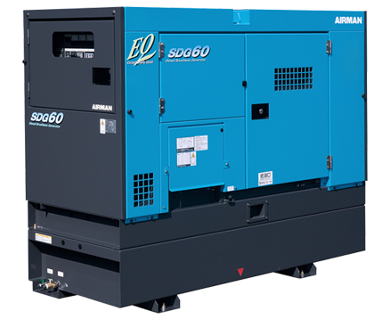 AIRMAN 50KVA PRIME POWER GENERATORS WITH EXTENDED TANK SDG60S-7A6N