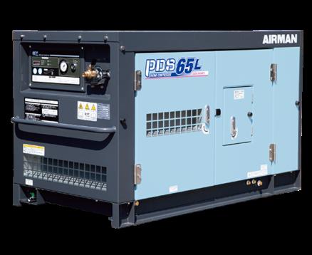 AIRMAN 65CFM BOX-TYPE PORTABLE DIESEL COMPRESSOR C/W LEAK GUARD PDS65L-5C5