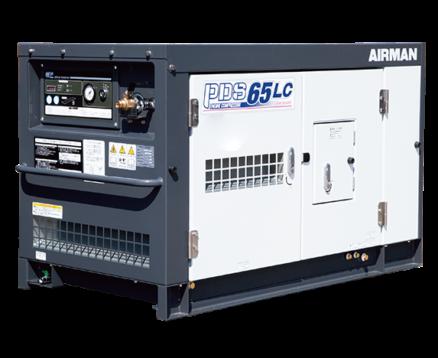 AIRMAN 65CFM BOX-TYPE AFTERCOOLED PORTABLE DIESEL COMPRESSOR C/W LEAK GUARD PDS65LC-5C5