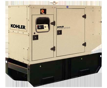 KOHLER 88KVA EXTENDED TANK STANDBY POWER GENERATORS KD88IV-FD02