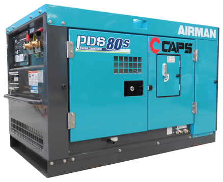 AIRMAN 80CFM BOX-TYPE PORTABLE DIESEL COMPRESSOR PDS80S-5C5
